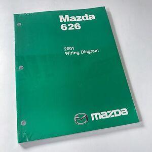 Details about 2001 Mazda 626 Factory OEM Wiring Diagram Workshop Repair on