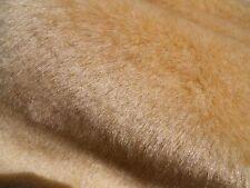 """Light Golden Beige Faux Fur Teddy Bear Making 1/2 """" Pile 1 Yard (36""""x60"""")"""
