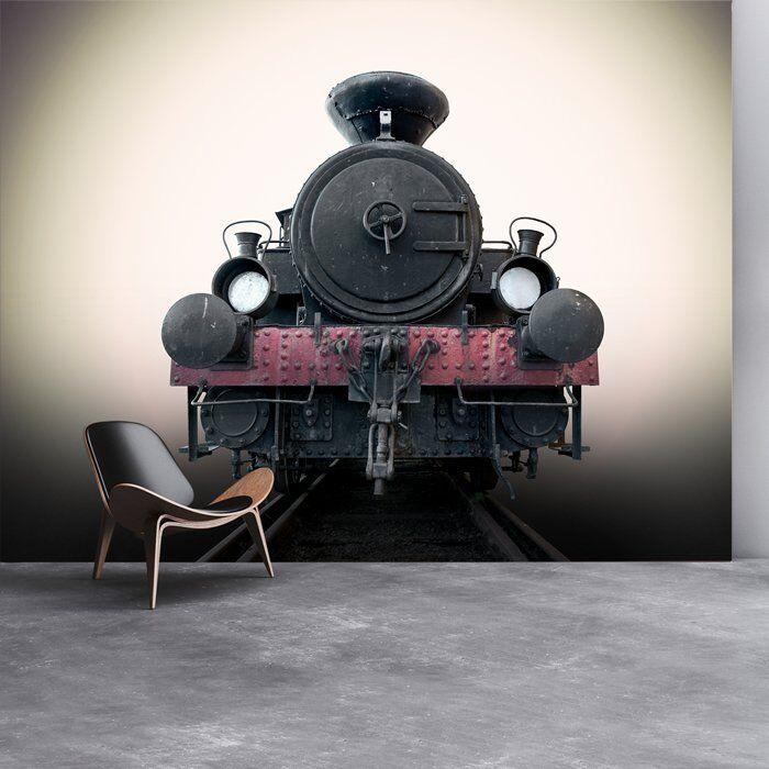 Jahrgang Eisenbahnzug, Fototapete Schwarzer Dampfzug Tapete Reise Dekor