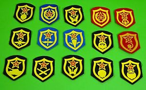 Collection-15-Soviet-USSR-Russian-Different-Military-Patches-1980-91-Lot-R02