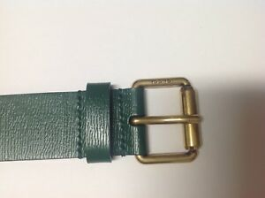 9a56f0710b5 Image is loading Gucci-Green-Leather-Belt-With-Kingsnake-434520
