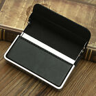 New Fashion Leather Men Business ID Credit Card Box Pocket Wallet Case Holder
