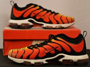 new arrive for whole family closer at Details about Nike Air Max Plus TN Ultra Tiger Mens 13 Sneakers Shoes Black  Team Orange Yellow