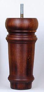 4-Classical-Wooden-Furniture-Legs-E800-DDMw-H-165mm-6-5-034-Sofa-Footstool-Chair