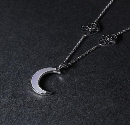Collier FINAL FANTASY 15 Noctis Lunafreya Demi Lune et Chaîne Longue