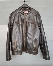 Levi Strauss & Co leather cafe racer motorcycle jacket size XL