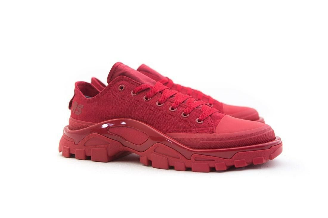 B22521 Adidas x Raf Simons Uomo Detroit Runner red power red