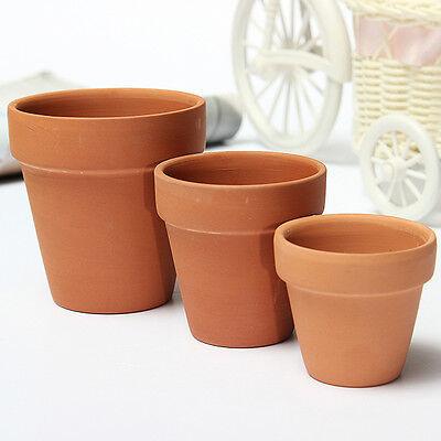 "1-10X Vintage Terracotta Clay Plant Flower Pot Handmade Ceramic 2"" 2.5"" 3"""