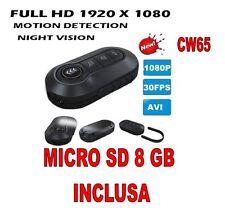 TELECOMANDO SPIA VIDEO FINTO FULL HD 1920X1080P PORTACHIAVI TELECAMERA + SD 8 GB