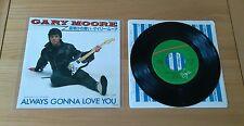 "Gary Moore Always Gonna Love You 1982 Japan 7"" Single Insert Classic Hard Rock"