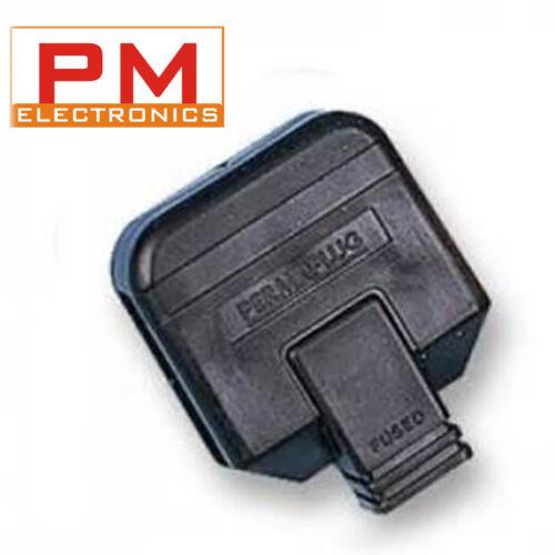 HEAVY DUTY PLUG BLACK PERMAPLUG BOX OF TEN 13A 13amp