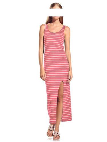 Kleid Maxi Kleid Heine rot weiß gestreift Baumwolle ärmellos Gr 40 42 44