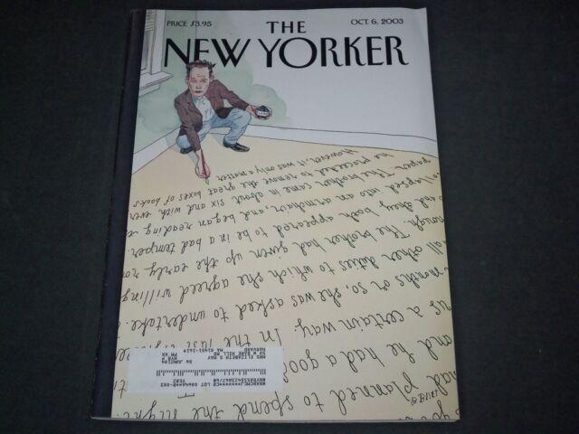 2003 OCTOBER 6 NEW YORKER MAGAZINE