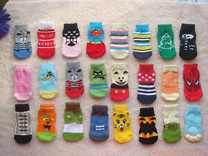 10 pairs wholesale Dog gift Puppy Pets anti-slip soft warm cute Socks size M
