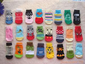 10 pairs wholesale Dog gift Puppy Pets anti-slip soft warm cute Socks size M