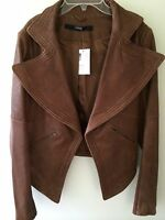 Cut 25 By Yigal Azrouel Brown Leather Jacket Retail $875 Size 8