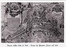 #TODI: PIANTA DELLA CITTA'- INCISA DA GIACOMO LAURO NEL 1641