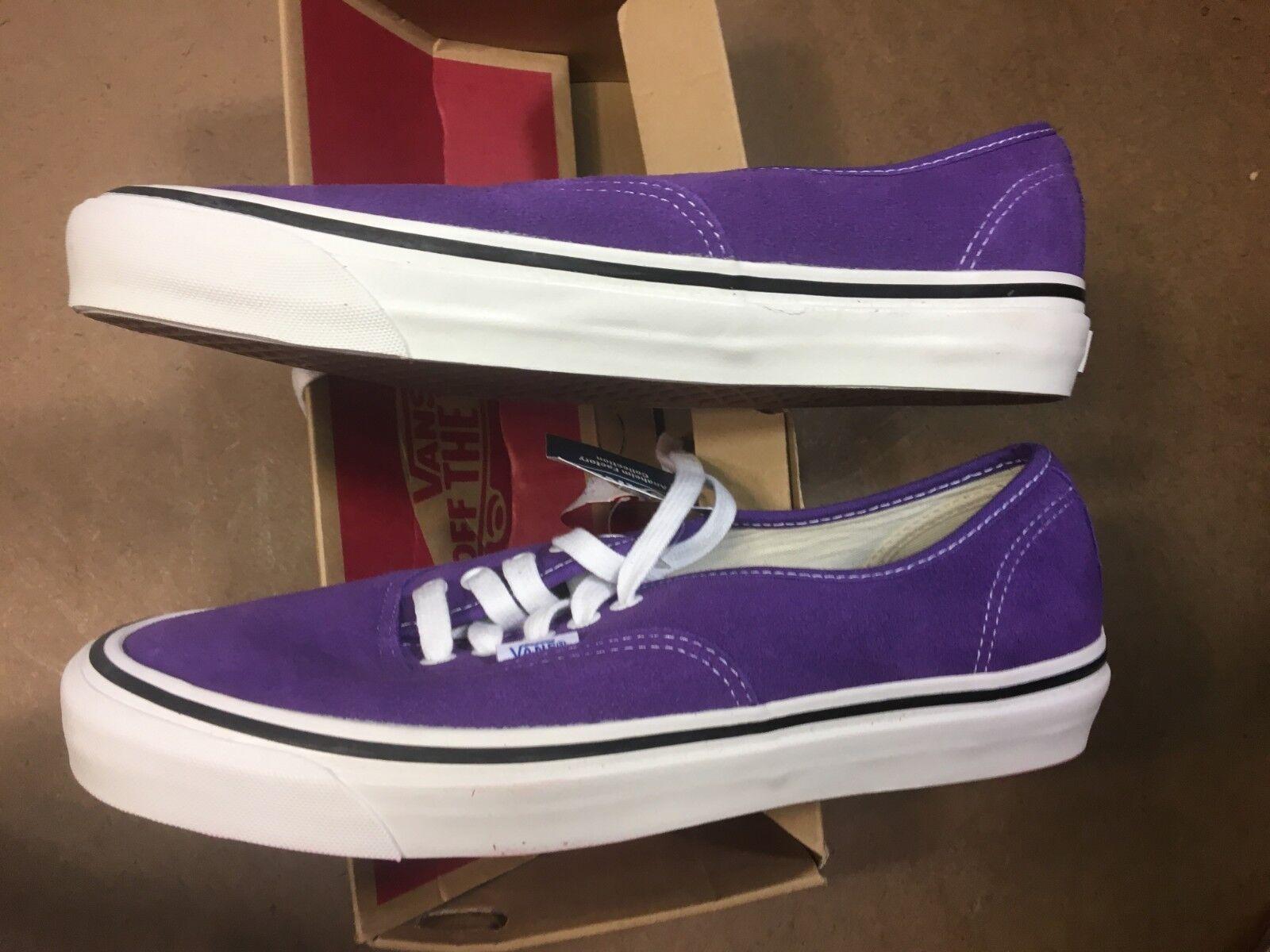 Vans Authentic 44 DX (Anaheim Factory) Purple Taglia US 11 Uomo VN0A38ENQSW