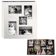 Ivory White Wedding Day Photo Album Holds 240 4x6 Pictures Photos Bound Sewn NEW