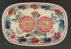 HB-Henriot-Quimper-Hand-Painted-Oval-Dish-France-F-162-Multicolor-Floral-7-034
