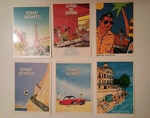 Loustal-et-Ted-Benoit-Collection-Bonnes-vacances-6-cartes-postales