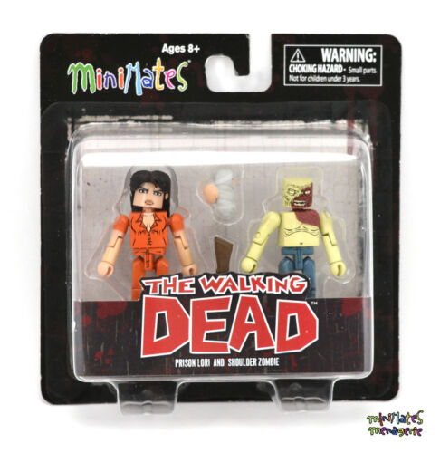 Walking Dead Minimates Series 4 Shoulder Zombie /& Prison Lori Variant