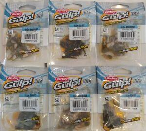 6pack Lot - Berkley Gulp Ice Minnow Head and Fish Fry - icefishing bait