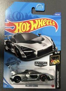 2020 Hot Wheels Walmart Zamac #233 McLaren Senna NIGHTBURNERZ 9//10  NEW