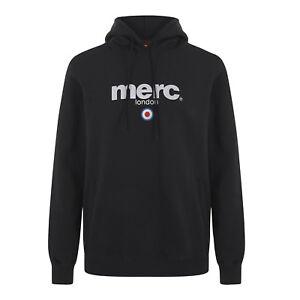 Noir Merc London pour Hommes Logo de Marque Sweat Capuche Pilule