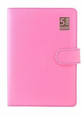 A5 Pink Day Per Page 5 Year Undated Any Year Journal Diary With Magnetic Closure