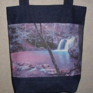 Large Handmade Waterfall Bag Photo Tote New Arkansas Catherine Denim Gift Lake 4A3cjL5qR
