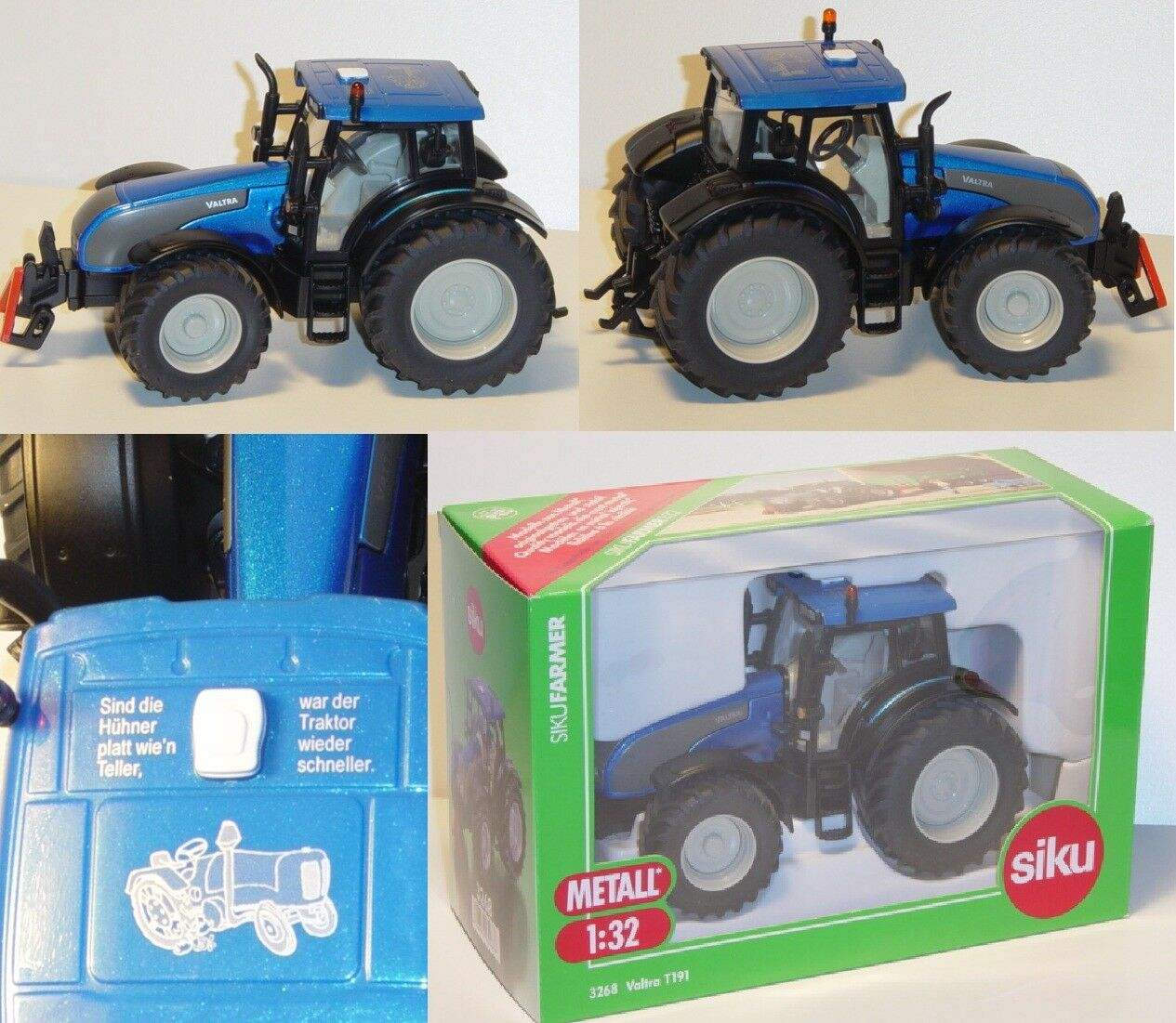 Siku Farmer 3268 SSC Valtra  t191 Tractor SSC Special Model 1 32 OVP  grande remise