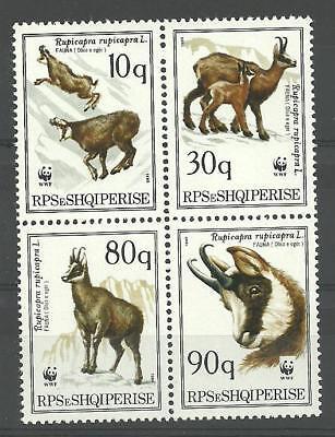 Reliable Albania Albanien Albanie 1990 Wwf Chamois Goats Minr 2423-2426 Mnh** Europe