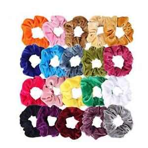 Lady-Hair-Scrunchies-Velvet-Elastics-Hair-Ties-Scrunchy-Bands-Ties-Ropes-Gift-Sw