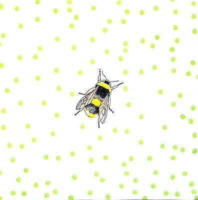 4x Paper Napkins for Party and Decoupage Craft Bees