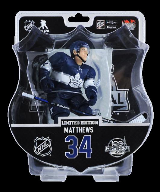 "2017  Import Dragons Auston Matthews Maple Leafs Centennial 6"" Figure /1850 RARE"