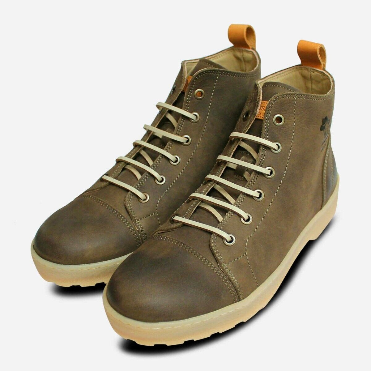 Panama Jack Khaki Green Manhattan C2 Lace Up Boots