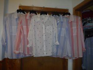 Long-Sleeve-full-Button-front-Shirt-Blouses-Gap-2XL-XL-L-M-100-cotton-NWT