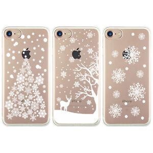 Christmas Tree Reindeer Snowflake Phone Case iPhone 8 Plus 7 X XS 6 6S 5 5S SE