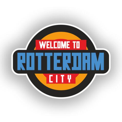 2 X Pegatinas De Vinilo Bienvenido a Rotterdam viaje equipaje #10348