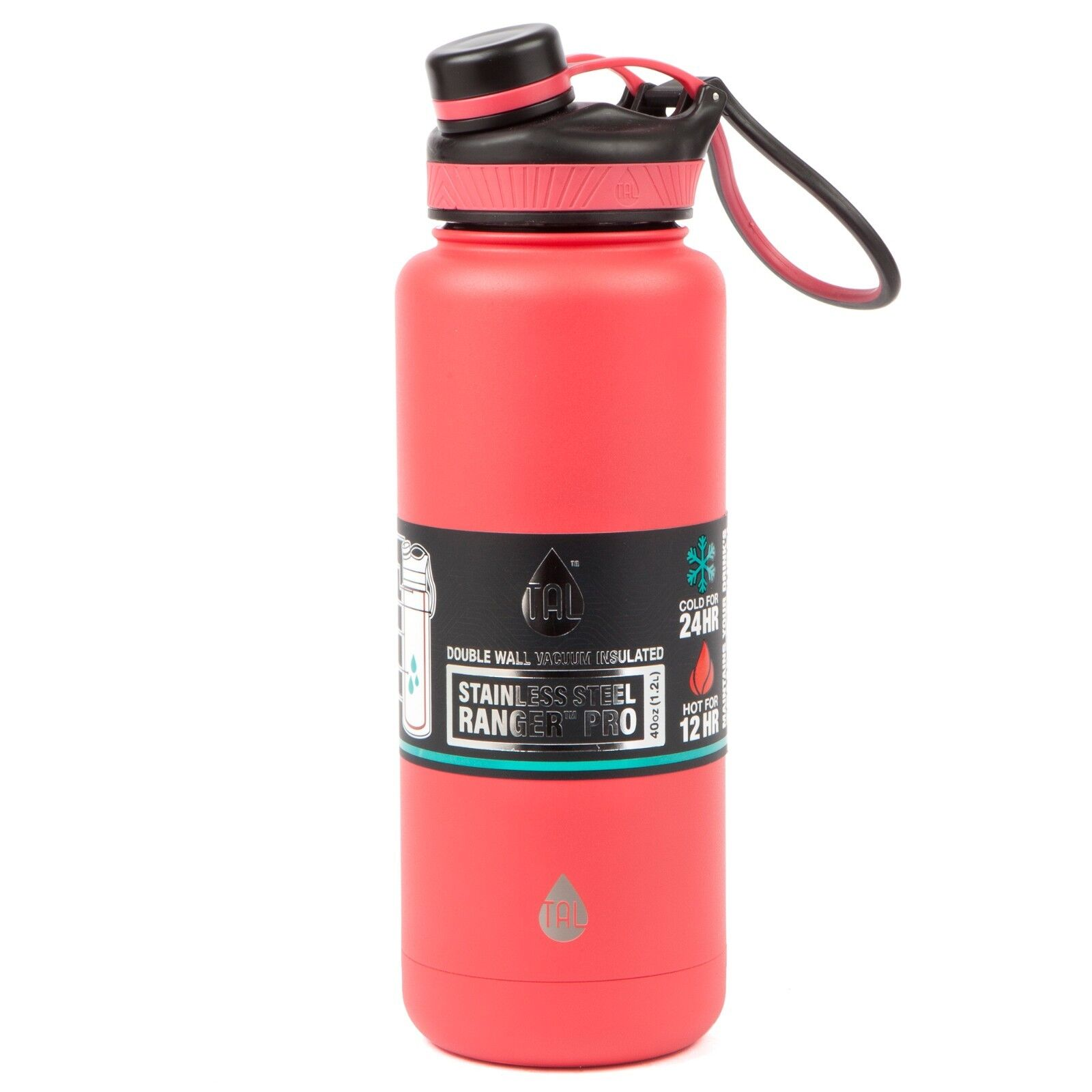 Tal Water Bottle – Ice lasts in mine on kitchen counter for 40 solid hours.