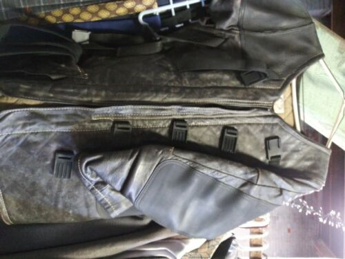 Mens Leather Shooting Jacket