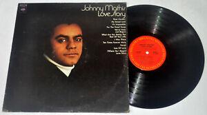 U.S. Pressing JOHNNY MATHIS Love Story LP Vinyl Record