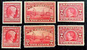 1909 US Stamp SC#367-368 370-373 367 368 370 371 372 373  CV:$124