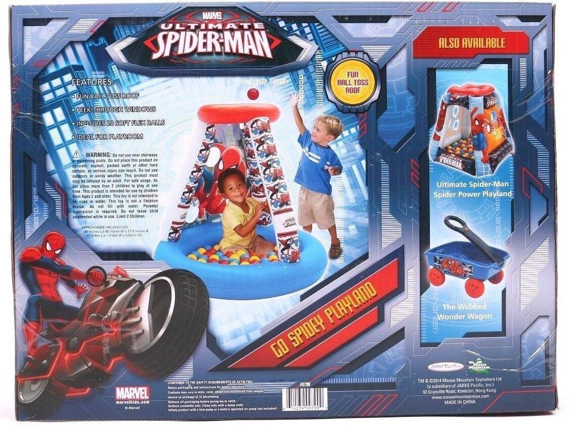 Marvel Kids Go Spidey Inflatable Playland 20 20 20 Soft Flex Balls Peek Through Window 4df6df