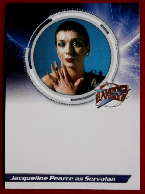 BLAKE'S 7 - JACQUELINE PEARCE as Servalan - UNSIGNED Autograph Card