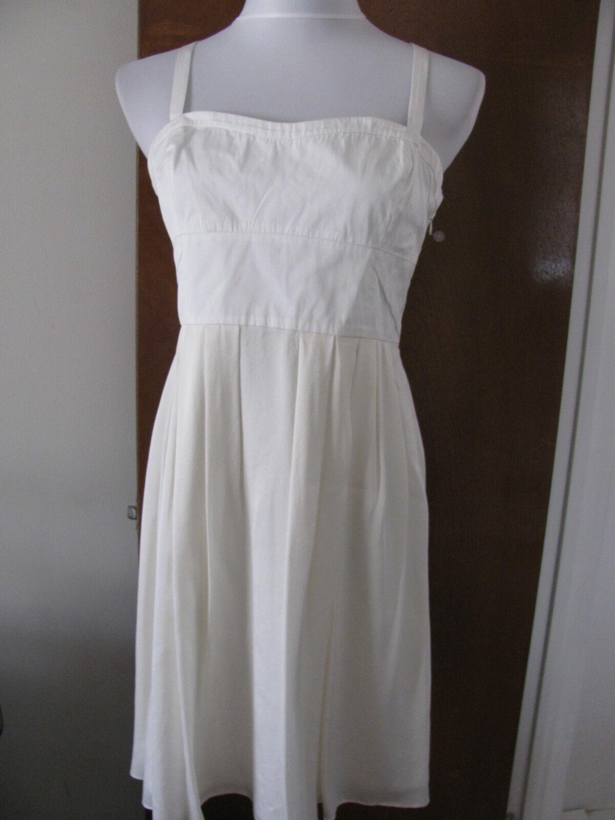 Theory Woherren Natural Weiß Dress Größe 10 NWT