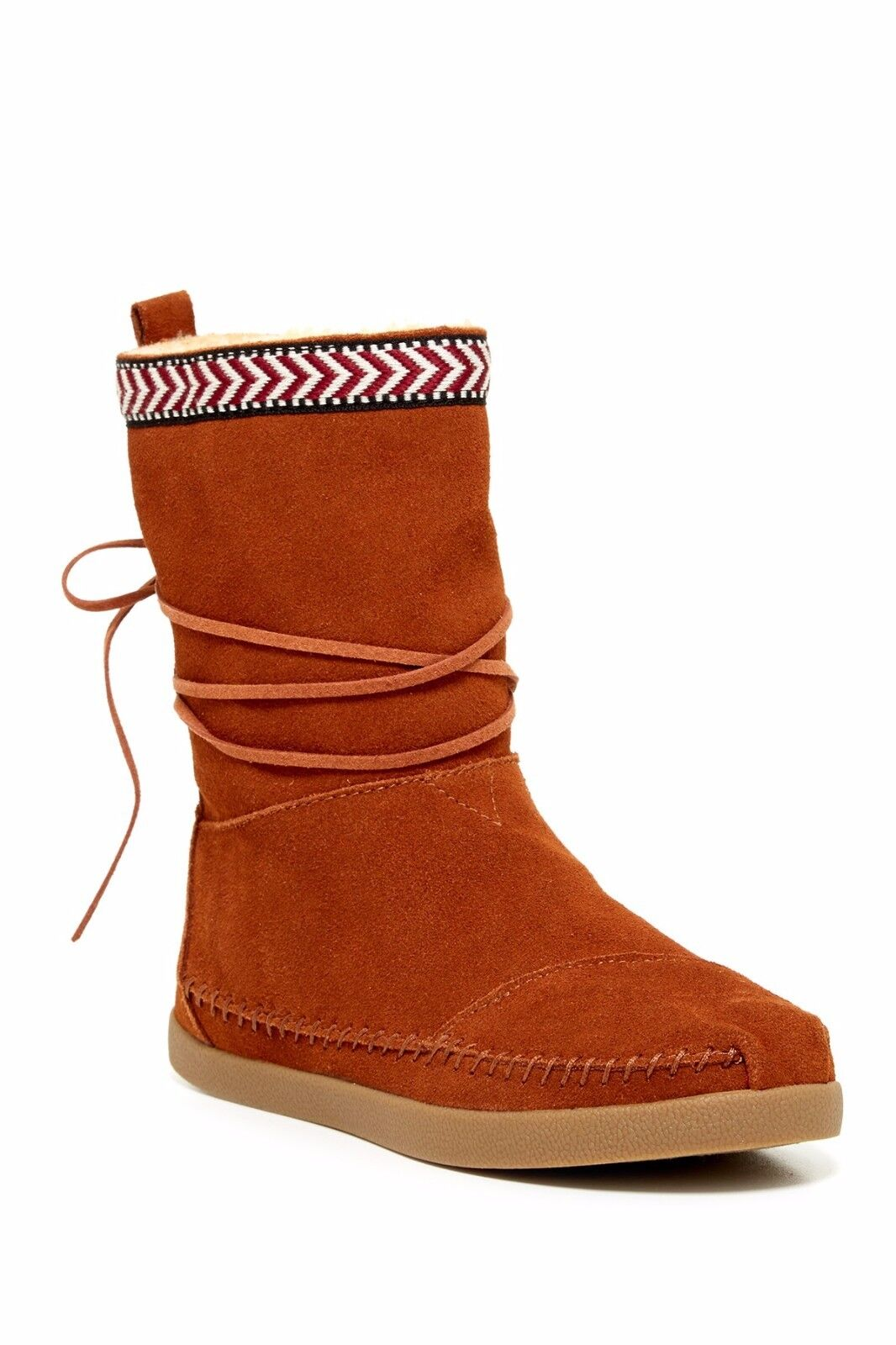 TOMS NEPAL BOOTS CHESTNUT SUEDE VERY RARE WOMENS SIZE 6.5B NEW WITH BOX