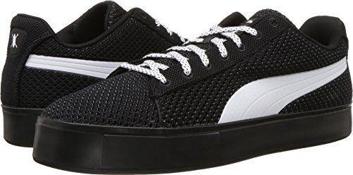 PUMA Mens Puma X DP Court Platform K Black/Puma White Athletic Shoe