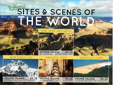 Young Island Gren St Vincent 2013 MNH Natural Sites & Scenes World 4v M/S Stamps